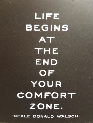 life begins at the end of your comfort zone by Neal Donald Walsch #freeelectrons.family