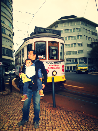Tram 28 - a nostalgic ride and a savior of big-baby-carrying fathers!