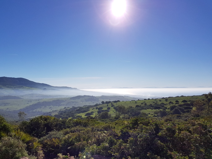 Enjoy the view from the mountains of Bolonia; Africa in the distance from where the 500-year Muslim conquest of Spain came.