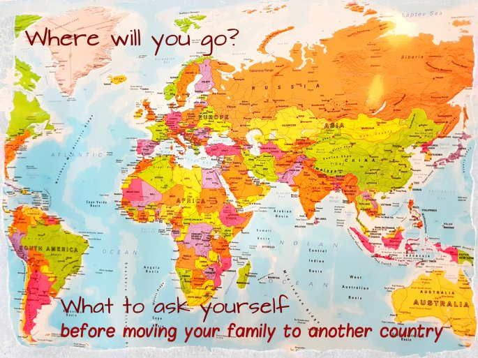 Would you like to have more time with your family? What to ask yourself before moving your family to another country. Where will you go? www.FreeElectrons.Family