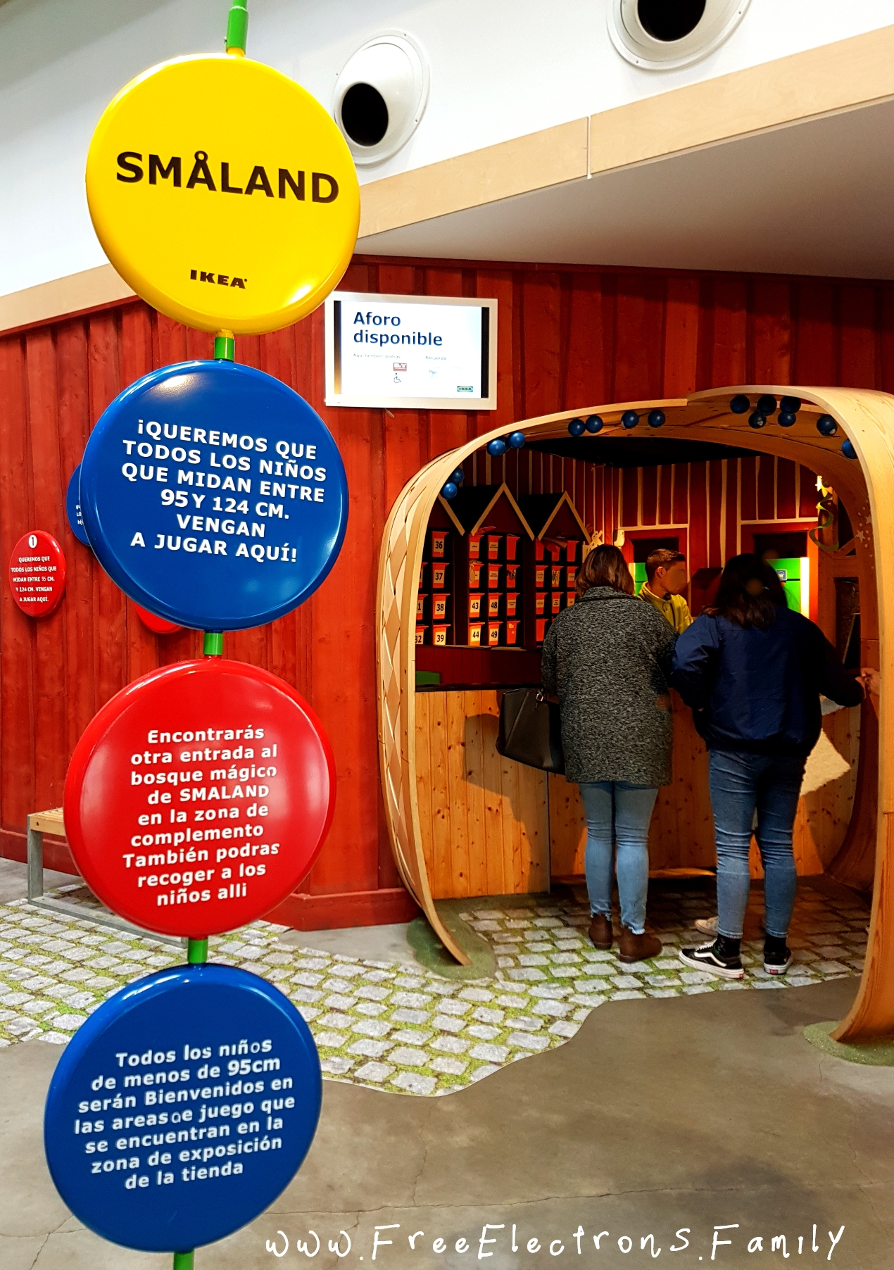 IKEA Smaaland's free play space.  Picture shows some instructions before dropping off your child for your 2-hour of quiet time.