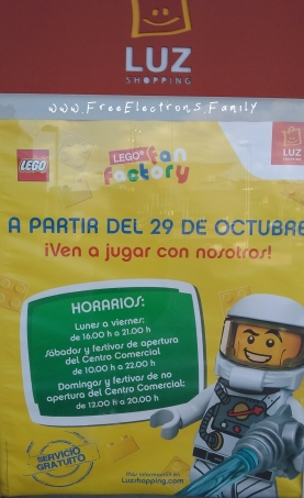 LEGO Fan Factory Hours (may change during holidays) beginning 29 October 2018.