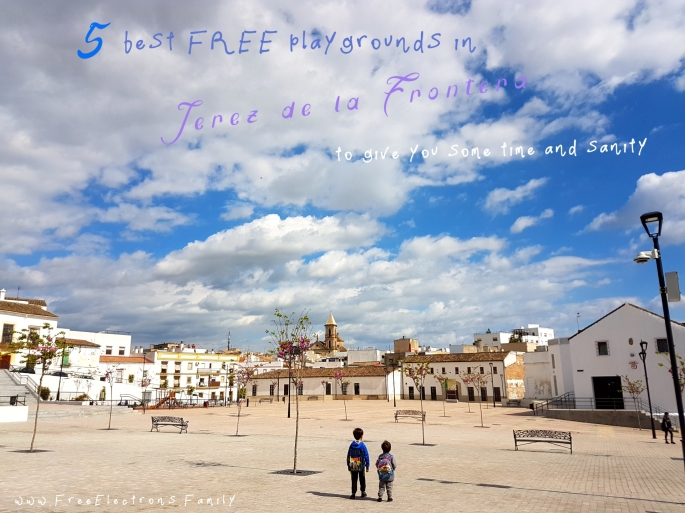 5 best FREE playground in Jerez de la Frontera to give you some time and sanity.  PIN IT PLEASE!  www.FreeElectrons.Family.