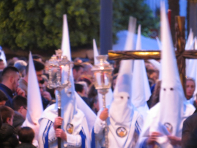 "What memorable family things to do with kids in Spain during the Holy Week (Semana Santa)? In Jerez de la Frontera, there are week-long processions of over 30 religious fraternities, 5-6 times a day, day and night, each taking hours, all over the city. Each procession has its ""pasos"" (floats) with sculptures of Jesus, Mary and scenes from the Passion of the Christ. This is a cultural and educational experience for the family, whether you are a Catholic or not, a believer or not. . . with children or not."