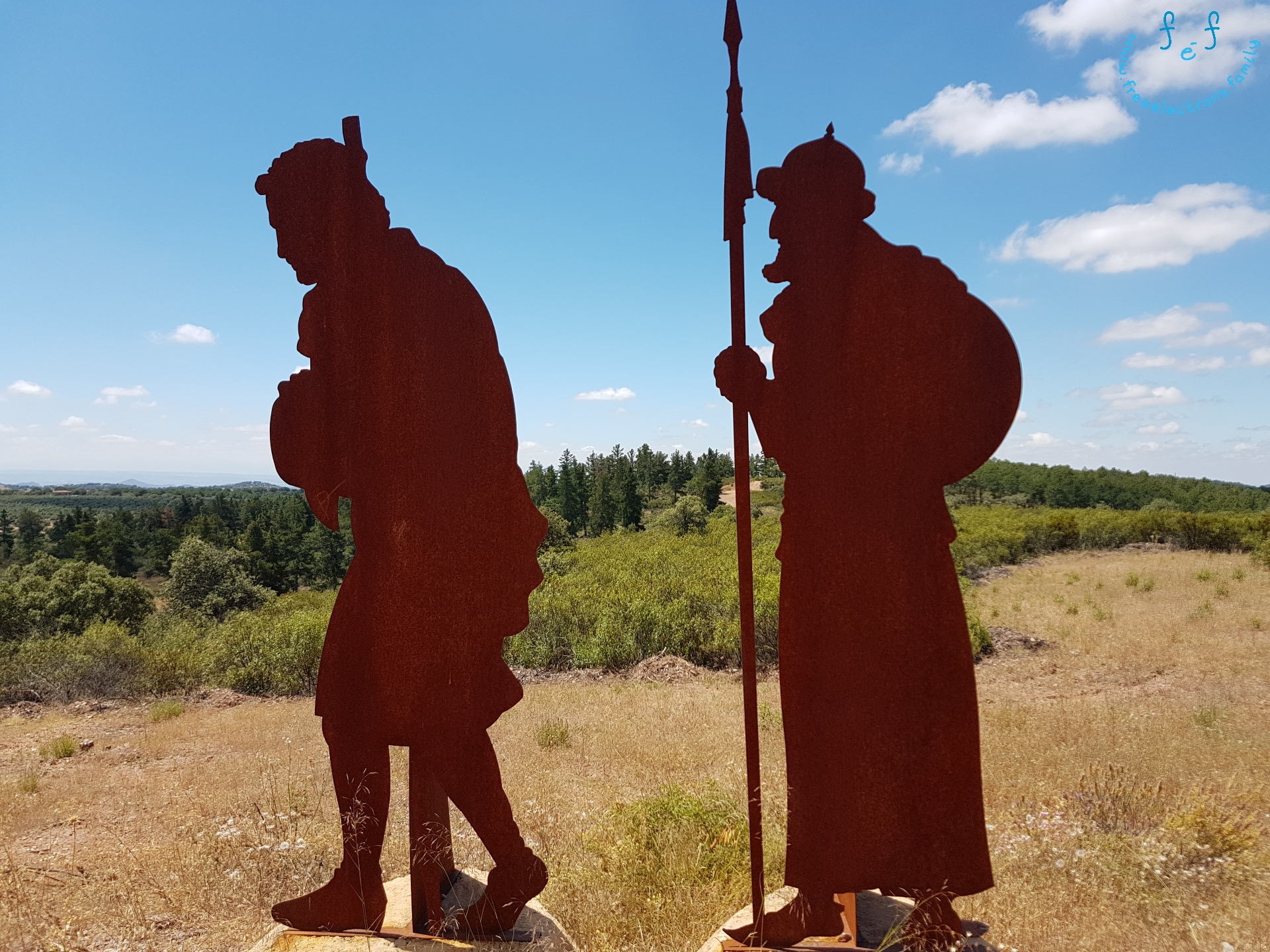 The farmer-spy who provided information about a mountain passage that enabled the outnumbered and outflanked Christians win the decisive battle over the Muslim army during the Battle of the Navas Tolosa 1212.  A #FreeElectrons.Family camping road trip Europe I stop in Santa Elena, Jaen, Spain.