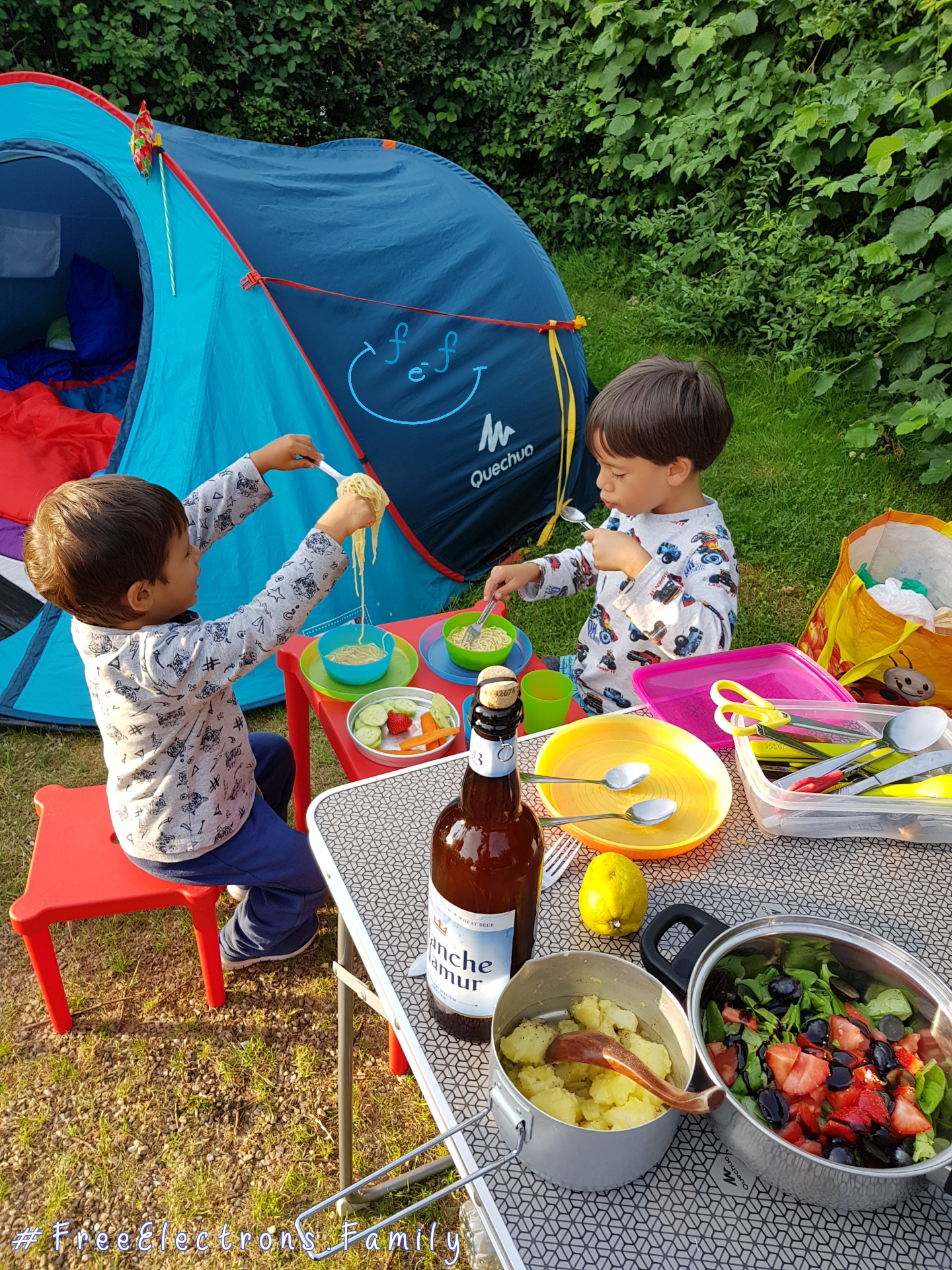 #FreeElectrons.Family - camping road trip Europe 2 eating well