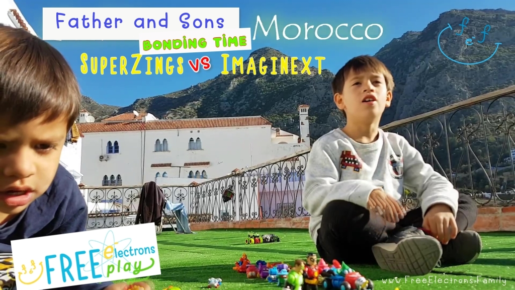 Father and Sons Bonding Time: SuperZings vs Imaginext - Free Electrons Family