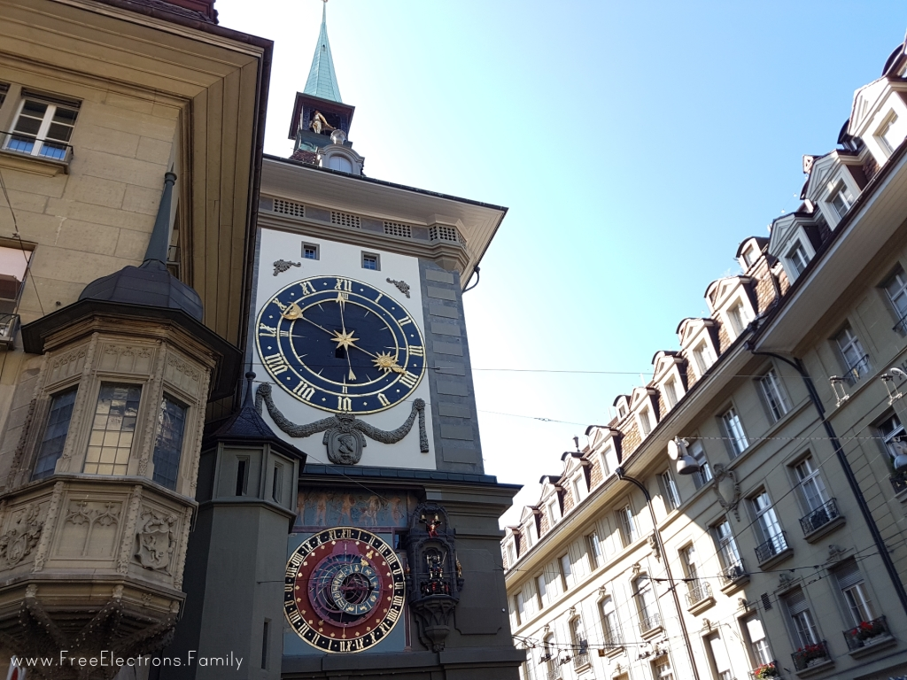 The clock tower Zytglogge in the old city of Bern. www.FreeElectrons.Family