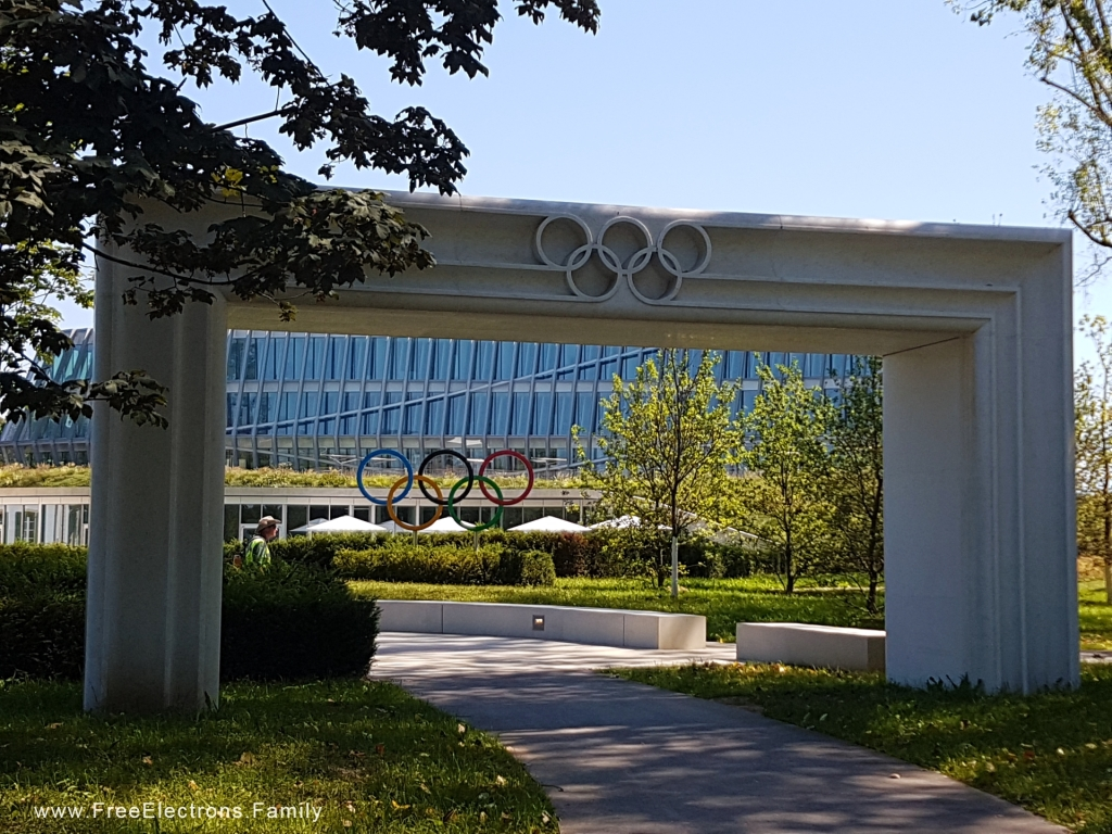 The HQ building of the International Olympic Committee in Lausanne, Switzerland.  www.FreeElectrons.Family