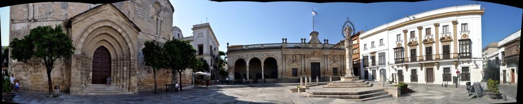 Panoramic view of Plaza Asuncion, Jerez.