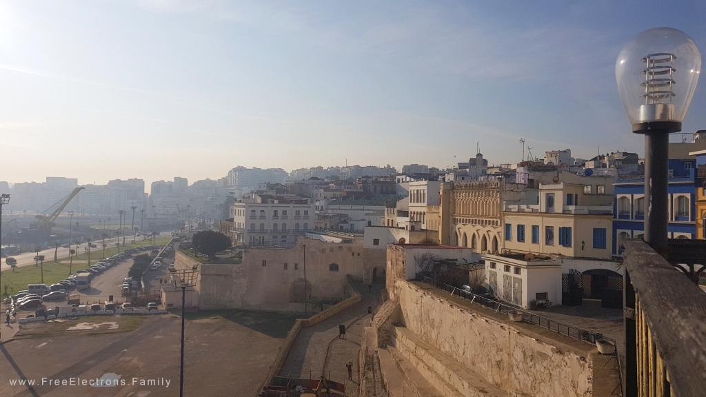 View of Tangier city from a vantage point.